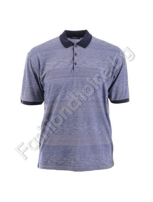 Bluza maxi pentru barbati cu guler si nasturi, in doua nuante
