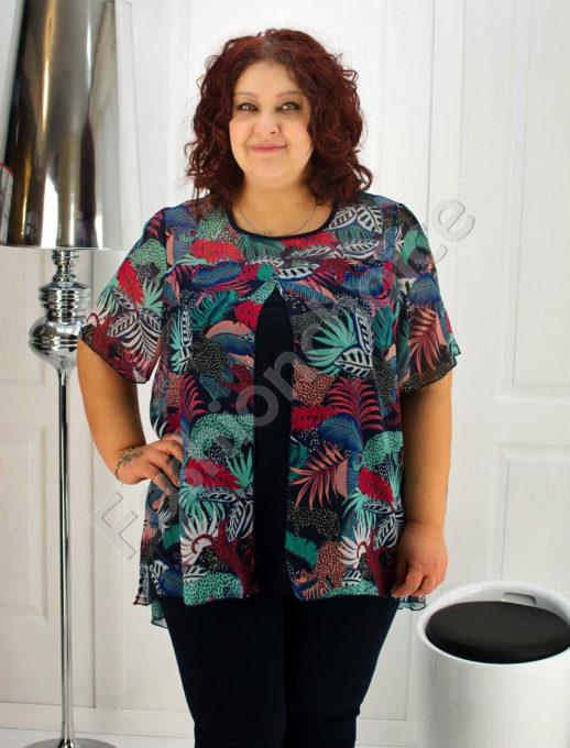 Bluza eleganta din sifon floral - 505-19014