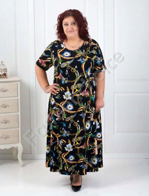 Rochie maxi cu imprimeu colorat Cod:070-1