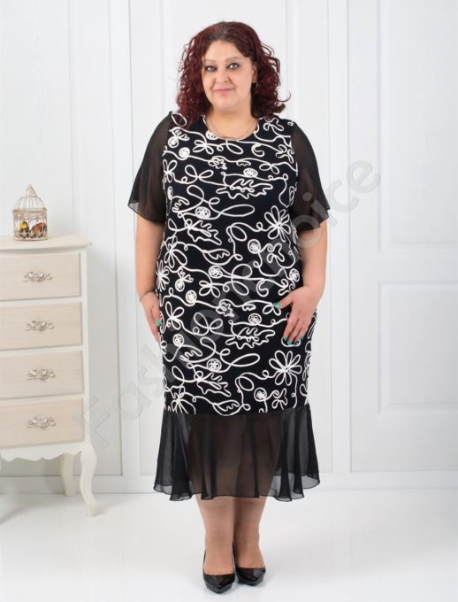 Rochie neagra eleganta Cod:254-1090-1