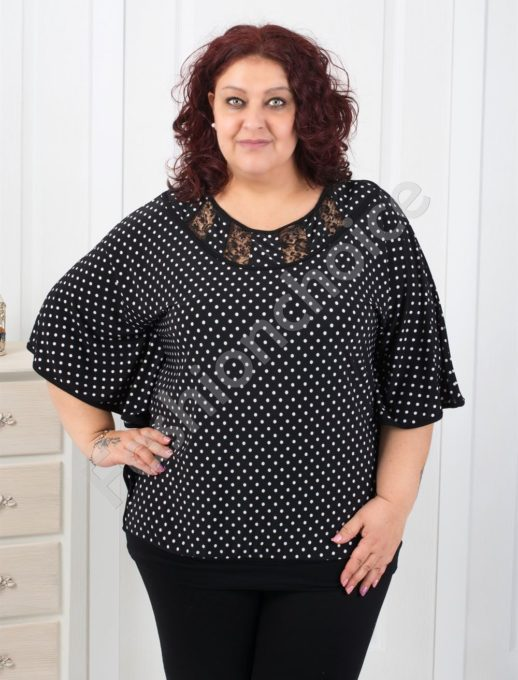 Bluza neagra cu buline Cod:251-1075-1