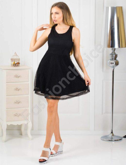 Rochie eleganta din dantela-negru Cod:868