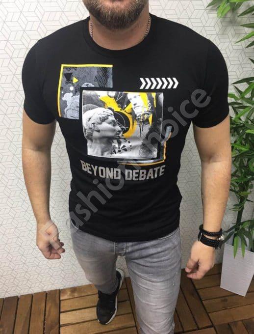 Tricou pentru barbati cu imprimeu modern Cod 9914