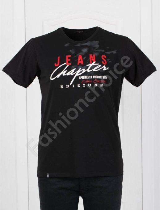 Bluza maxi cu inscris JEANS- negru Cod 073-2