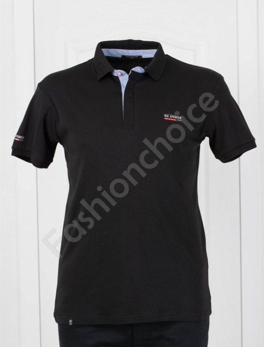 Bluza maxi cu guler si nasturi-negru Cod 143-3