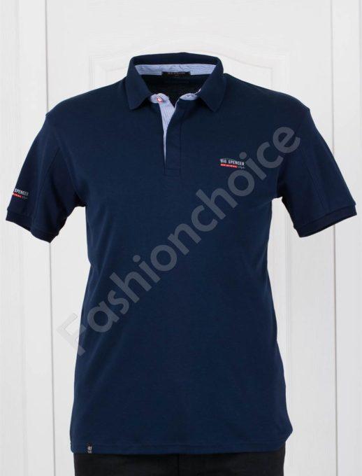 Bluza maxi cu guler si nasturi - bleumarin Cod 143-1