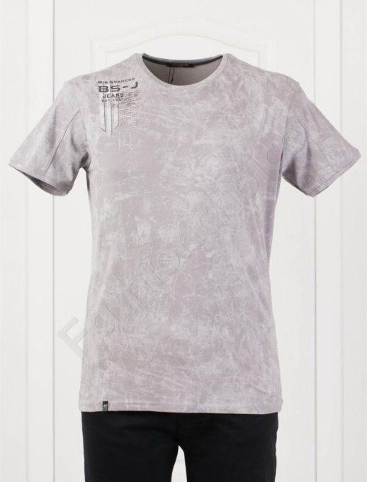 Tricou maxi cu imprimeu pe umar-gri-cod 148-4