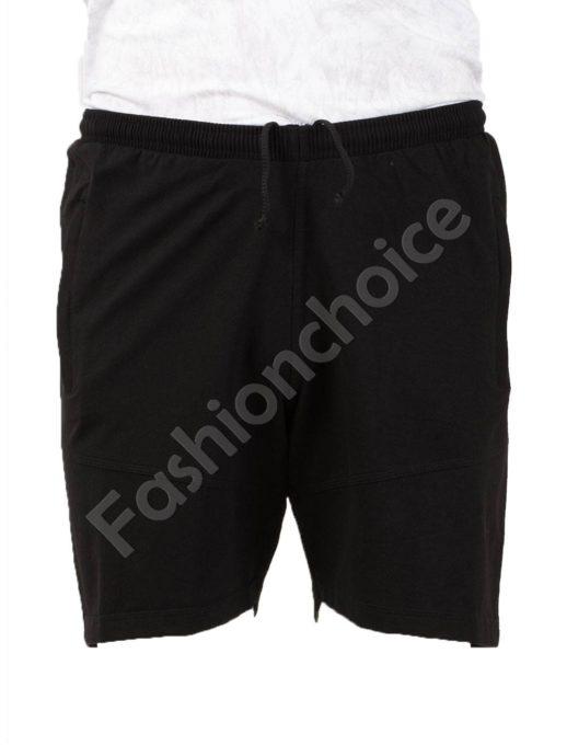 Pantalon scurt din bumbac /58, 60, 62, 64,66/- negru Cod 001