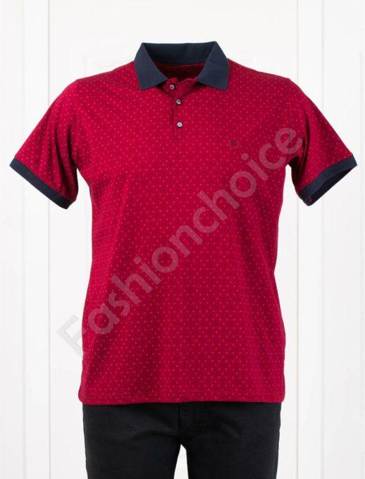 Bluza maxi cu guler /3XL-8XL/-bordo- cod 405