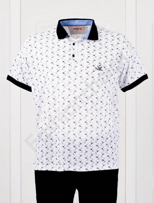 Bluza maxi cu guler /3XL-8XL/-alb- cod 401