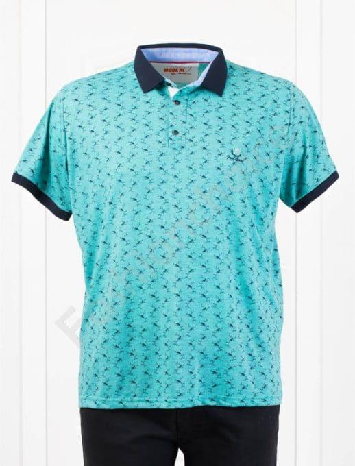 Bluza maxi cu guler /3XL-8XL/-menta- cod 401-1