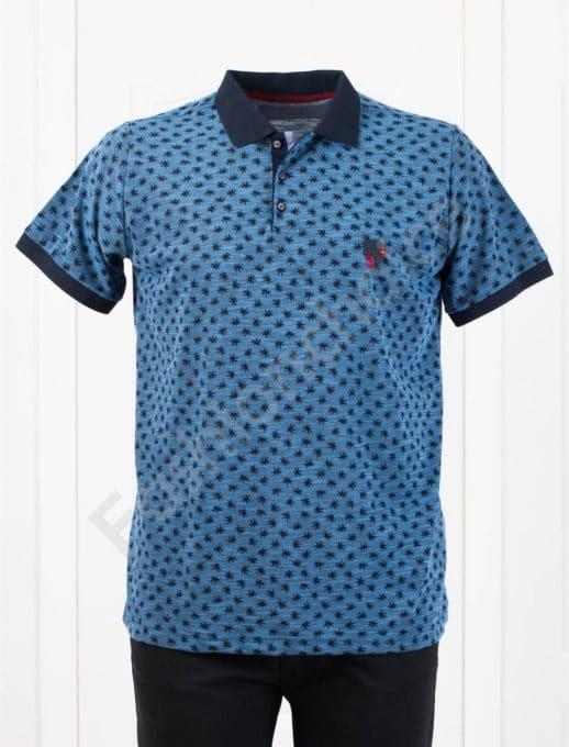 Bluza maxi cu guler si print interesant /3XL-8XL/-parlament- cod 404-1