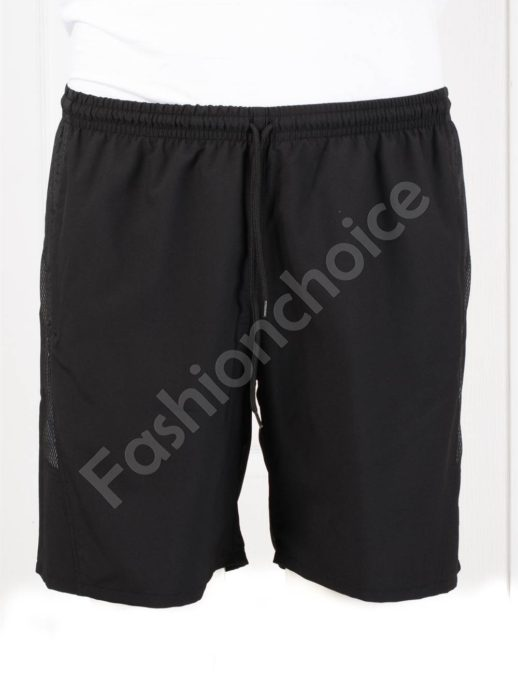 Pantalon scurti de plaja cu buzunare-negru cod 120