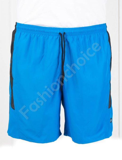 Pantalon scurti de plaja cu buzunare-albastru deschis cod 120-2