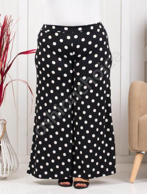 Fusta-pantalon cu buline albe - cod 618-1